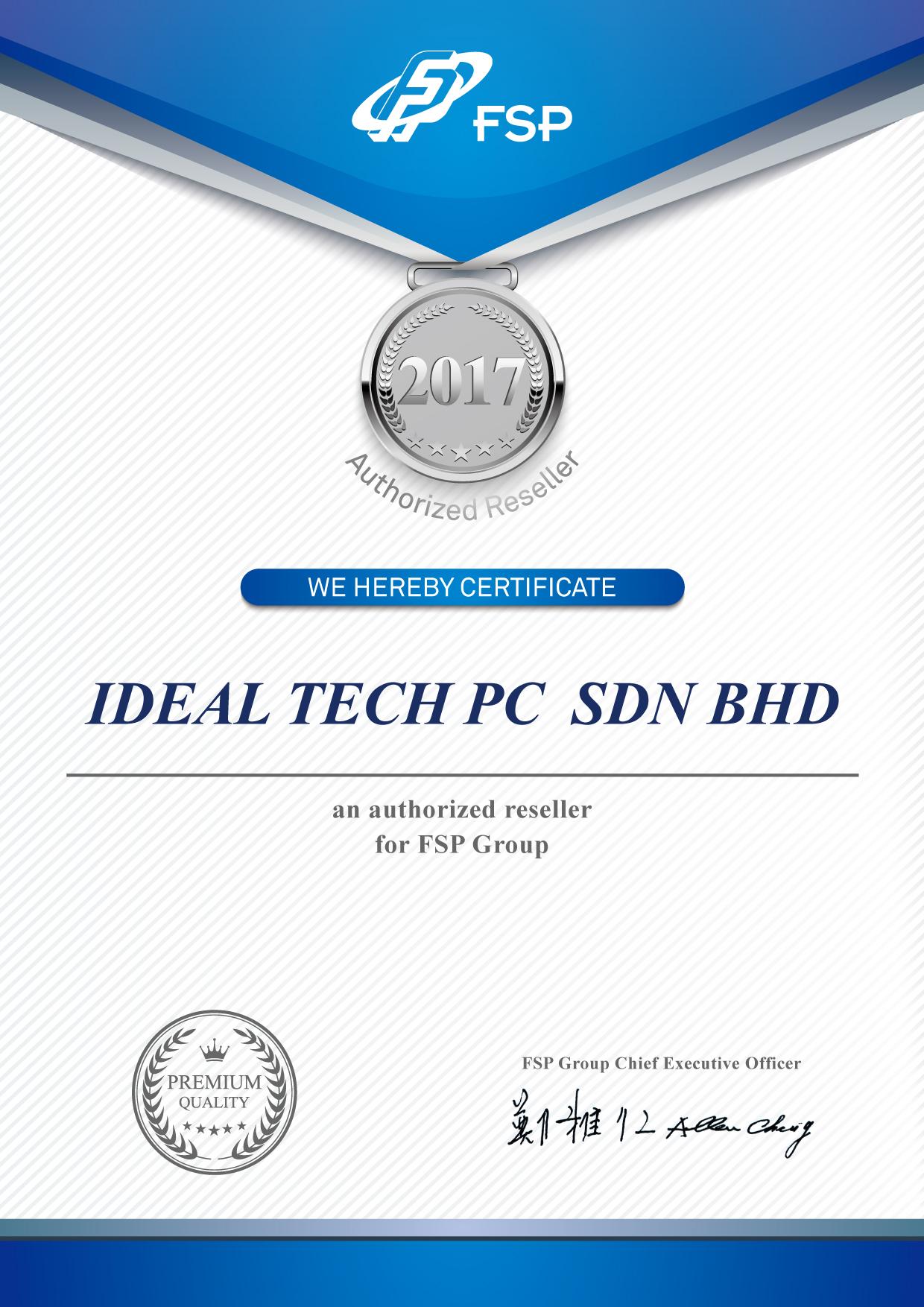 FSP_通路商證書_2017_IDEAL-TECH-PC-SDN-BHD-01